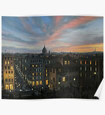 Rome in The Light of Sunset Poster