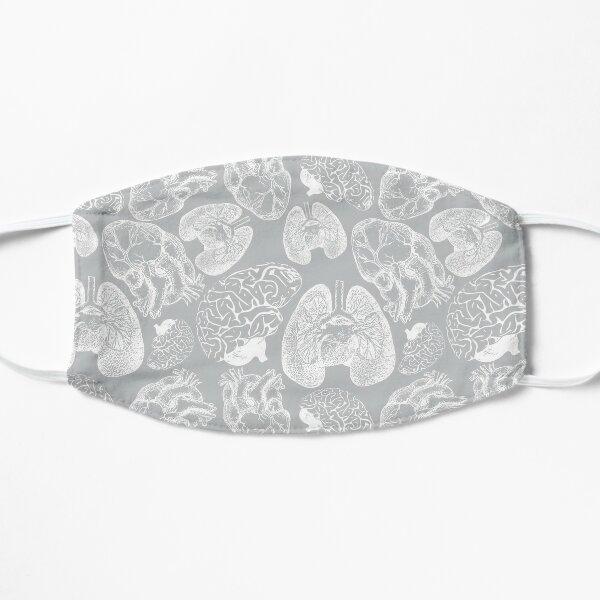 Anatomical Organs - White on Grey Mask