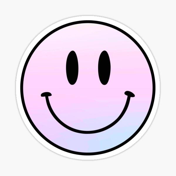 difundir alegría y ser feliz con este diseño de cara sonriente. Pegatina