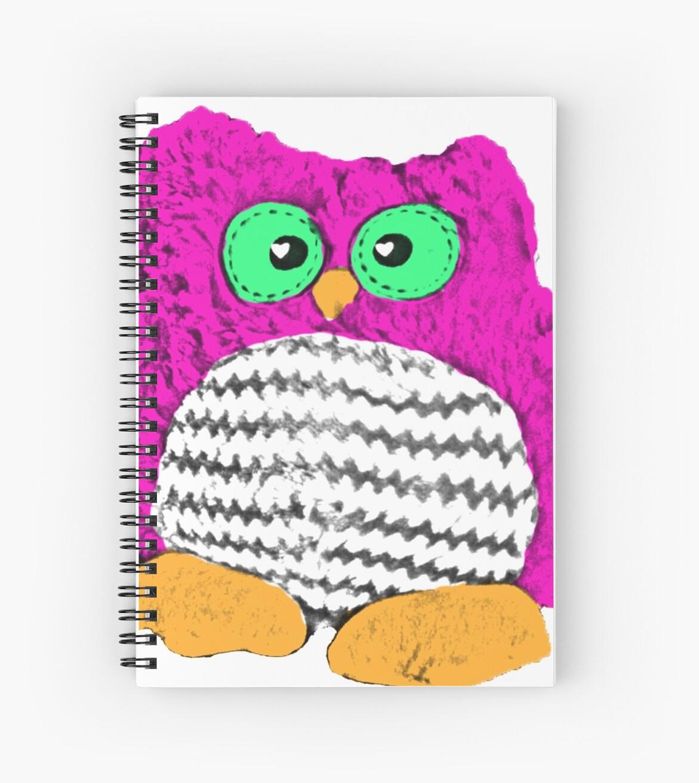 Cuadernos De Espiral Lindo Búho De Dibujos Animados Chuchi De