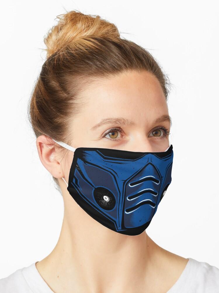 Mortal Kombat Sub Zero Mask Mask By Vector Planet Redbubble