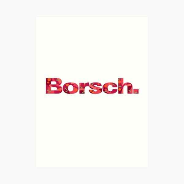 Borsch. Bench parody Art Print