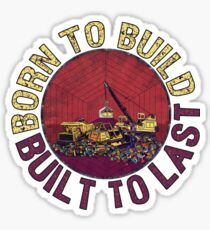 Born to Build (pink) Sticker