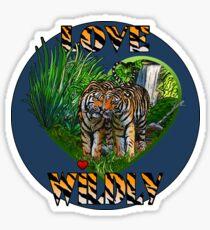 LOVE WILDLY Sticker