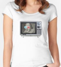 Shakespeare 3D T.V. Women's Fitted Scoop T-Shirt