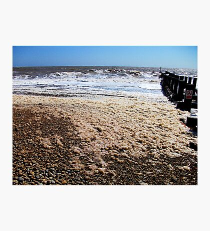 Waves By The Sea Foam! Photographic Print