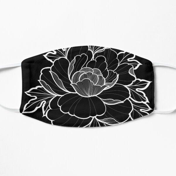 Peony flower tattoo style inverse Flat Mask