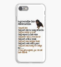 Dogs Are Better Than Children iPhone Case/Skin