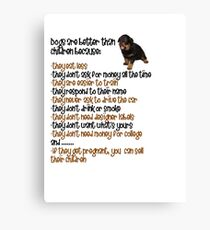 Dogs Are Better Than Children Canvas Print