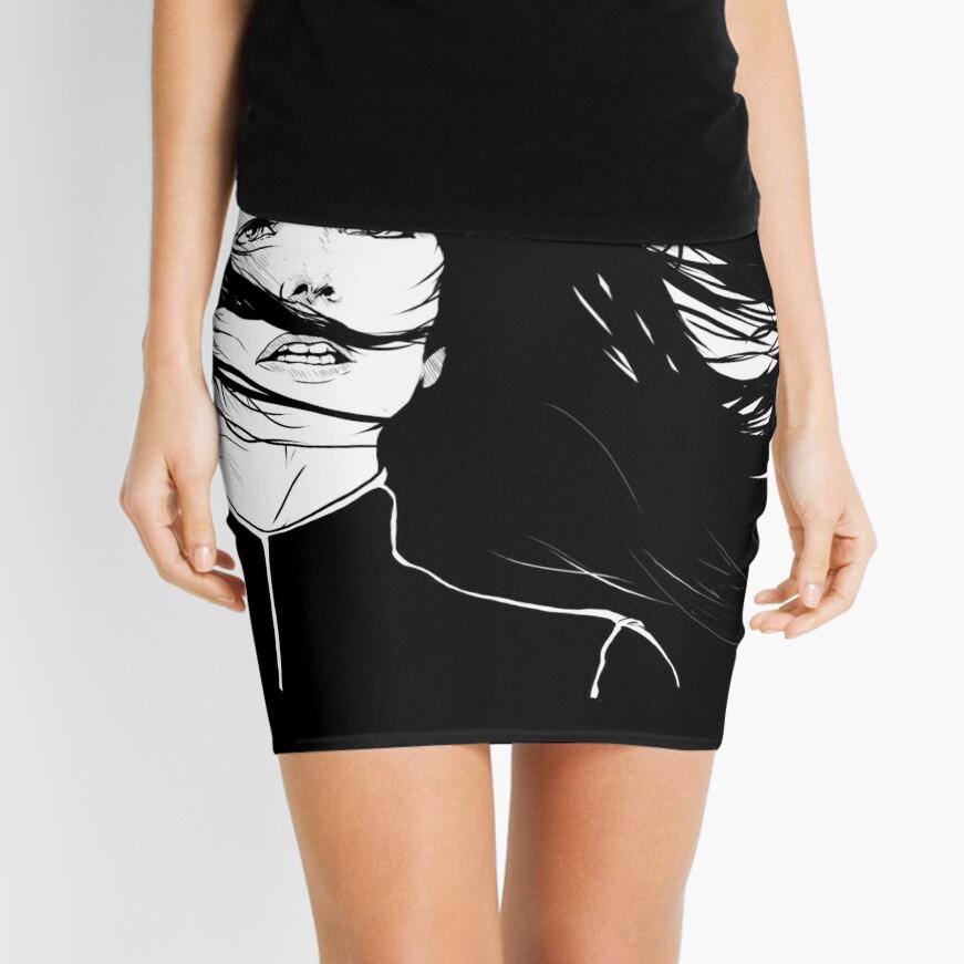 Aeryn Sun - BLACK BG Minifalda