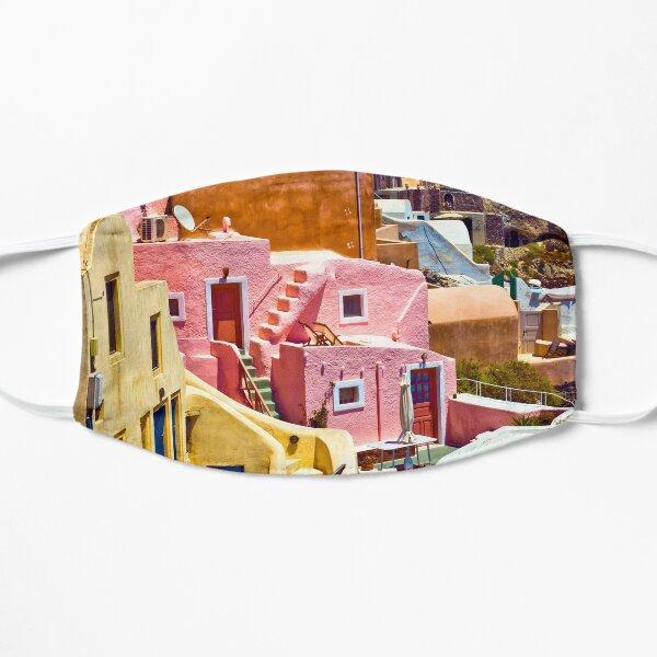 colorful houses on Santorini Mask