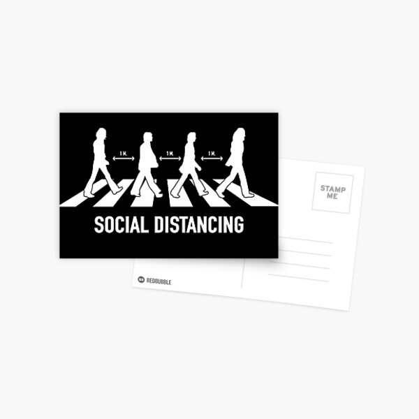 Abbey Road Social Distancing Postcard