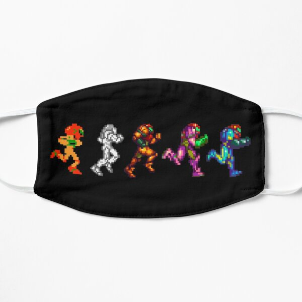Evolution of Samus | Metroid 2D Pixel Art Sprites | Retro Nintendo Mask