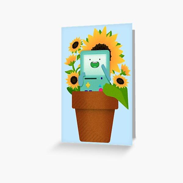 Sunflower BMO Greeting Card