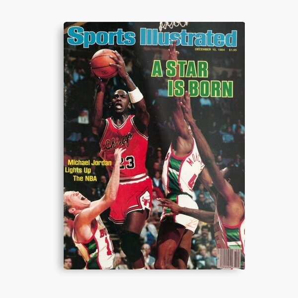 Michael Jordan A star is born Metal Print