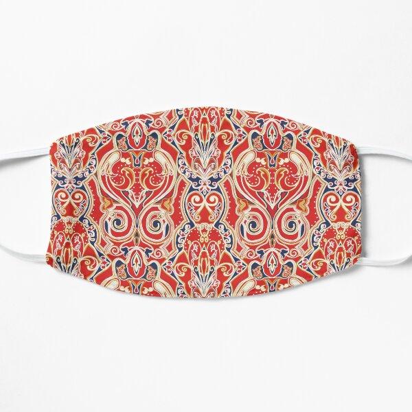 Boho Bohemian Chic Red Tribal Ethnic Pattern Flat Mask