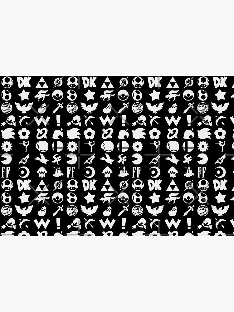 Super Smash Bros. Ultimate Series Logos   White Icons by surik-