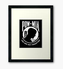POW MIA Framed Print
