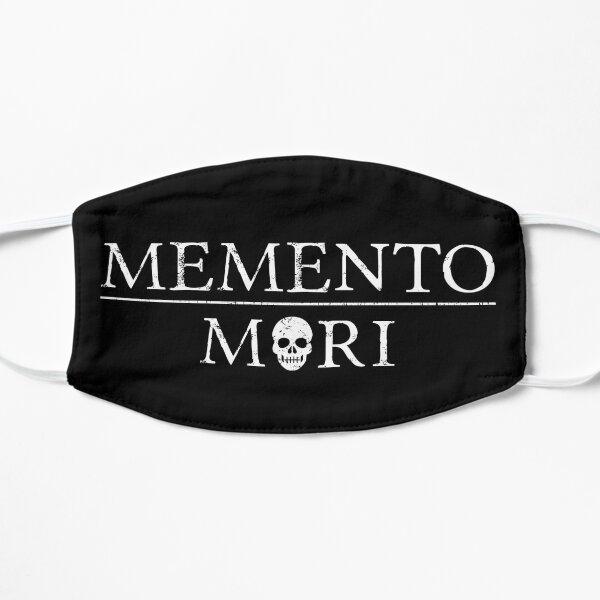 Latin Inspirational Quote: Memento Mori with Skull Flat Mask