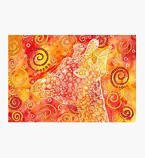 Giraffe abstract watercolor Photographic Print