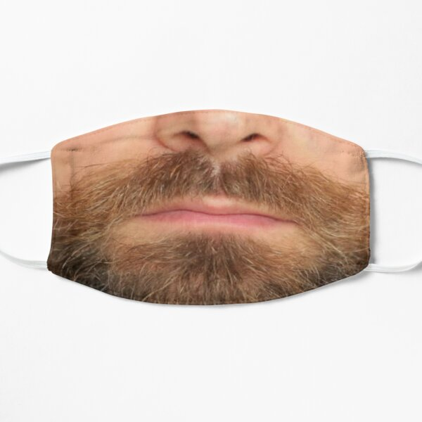 Beard Face Mask Flat Mask