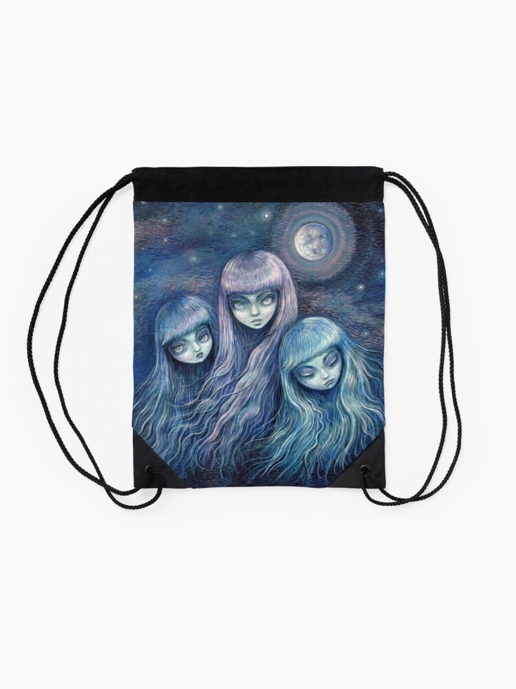 Alternate view of Sisters of the Moon Drawstring Bag