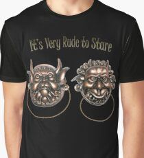 It's Very Rude to Stare Labyrinth Knockers Graphic T-Shirt