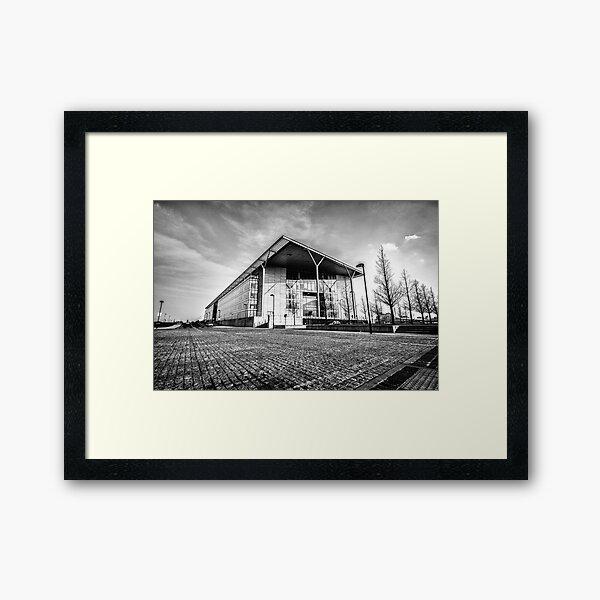 Docklands B&W Framed Art Print