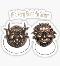 It's Very Rude to Stare Labyrinth Knockers Sticker