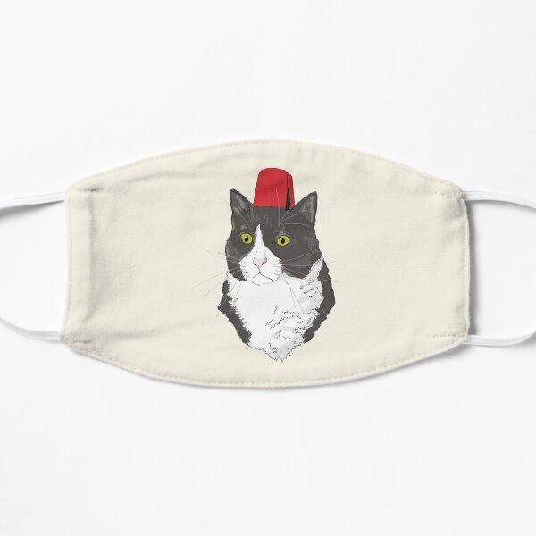 Fez Hat Cat Flat Mask