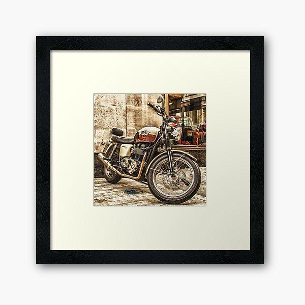 Triumph Bonneville T100 Framed Art Print