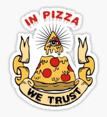 Pegatina En Pizza We Trust