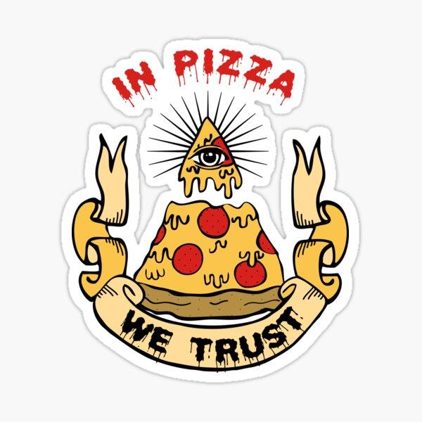 En Pizza Confiamos Pegatina
