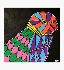 Abstract bird colorful design Photographic Print
