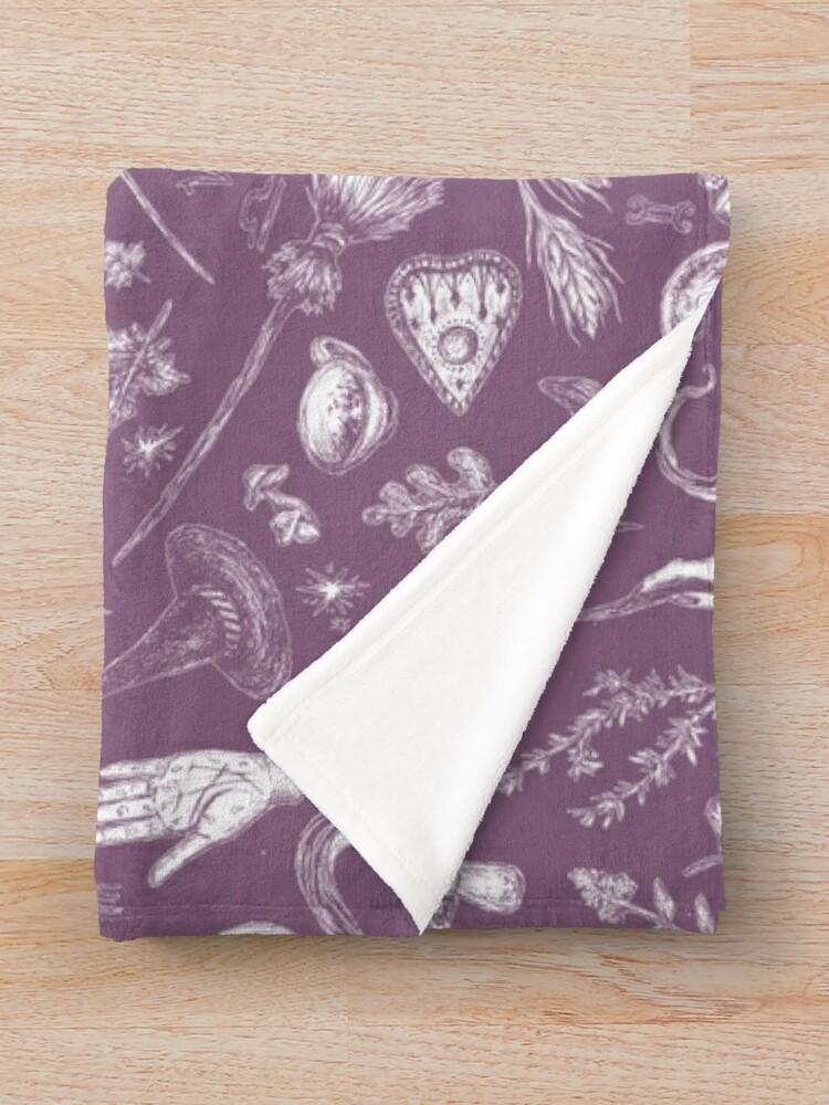 Alternate view of Purple Salem Witch  Throw Blanket