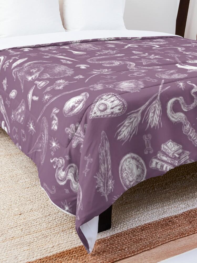 Alternate view of Purple Salem Witch  Comforter