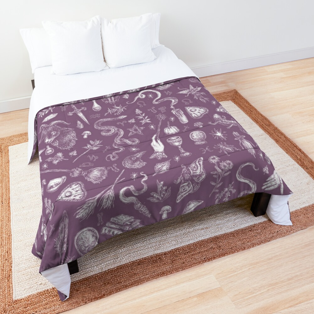 Purple Salem Witch  Comforter