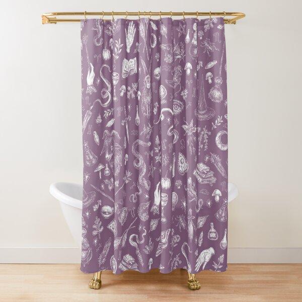 Purple Salem Witch  Shower Curtain