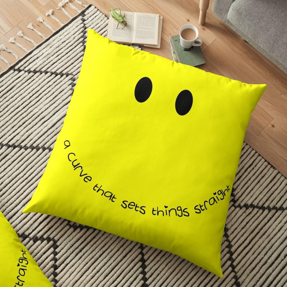 Curvy Smile Floor Pillow