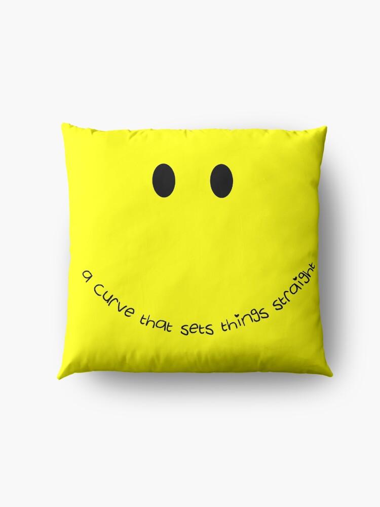 Alternate view of Curvy Smile Floor Pillow