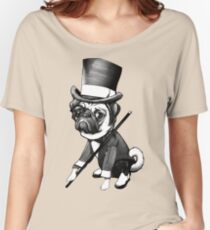 Pug Fred Astaire Women's Relaxed Fit T-Shirt