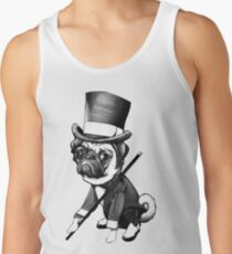Pug Fred Astaire Tank Top