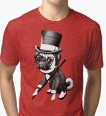 Pug Fred Astaire Tri-blend T-Shirt