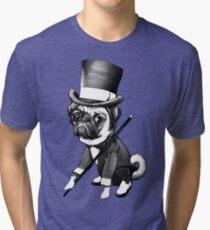 Pug Fred Astaire Tri-blend T-Shirt