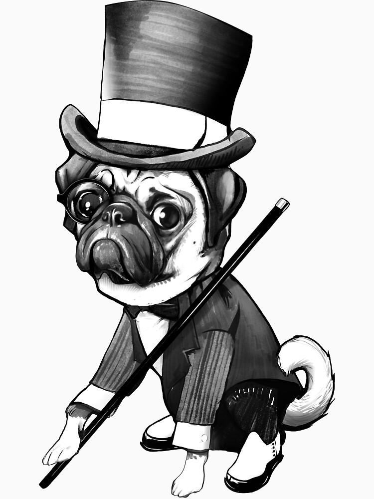 Pug Fred Astaire | Unisex T-Shirt