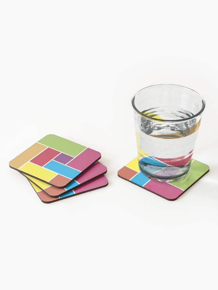 Alternate view of Colorful Blocks Coasters (Set of 4)