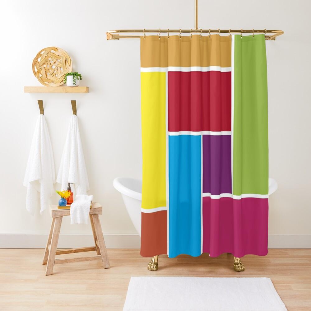 Colorful Blocks Shower Curtain