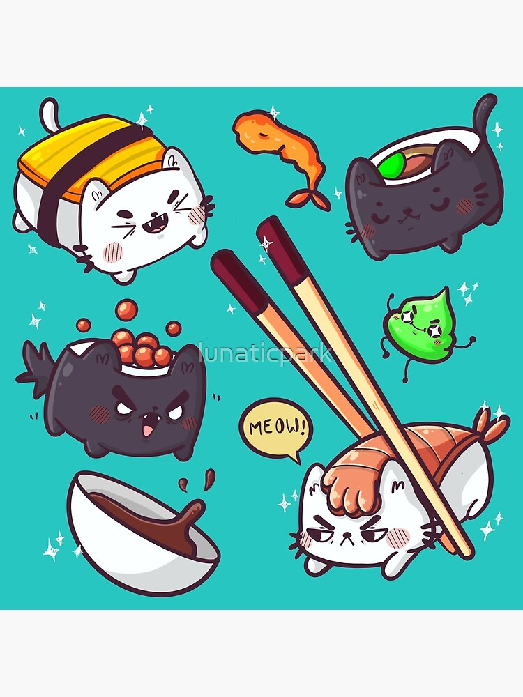 Sushi cats by lunaticpark