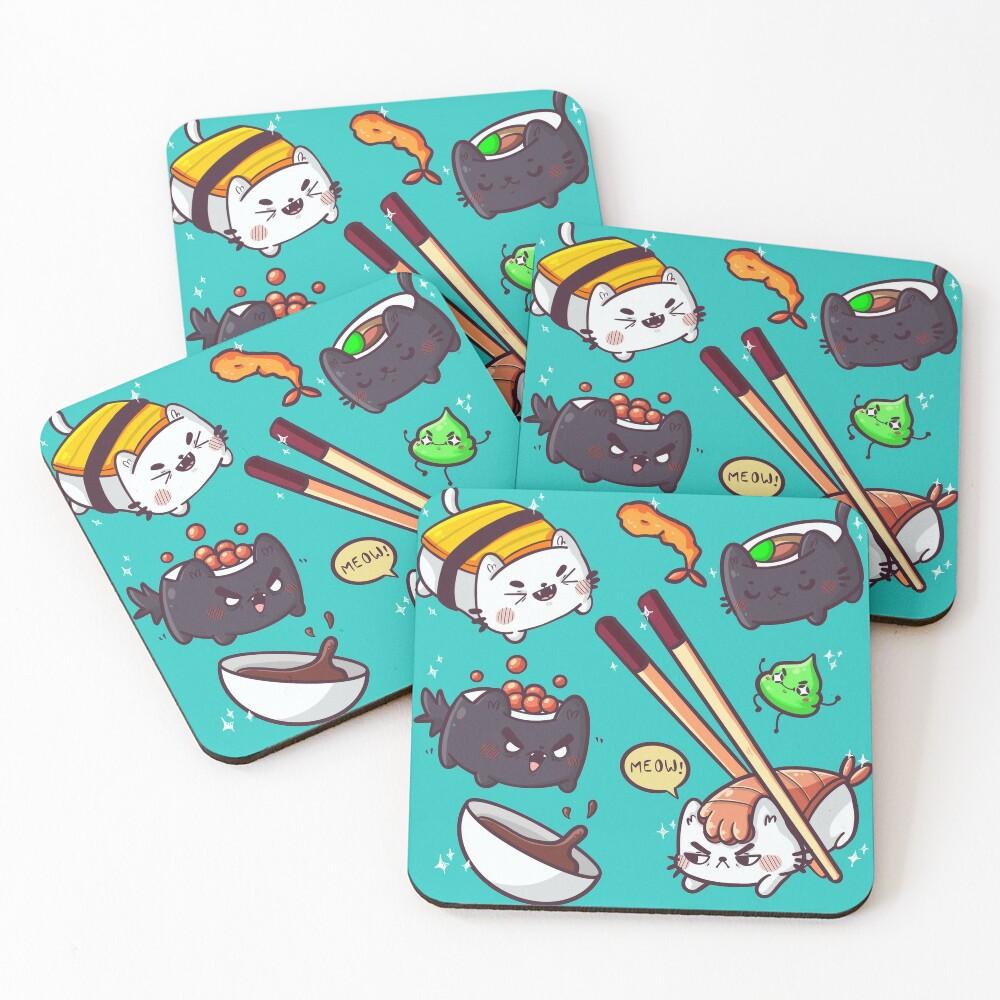 Sushi cats Coasters (Set of 4)