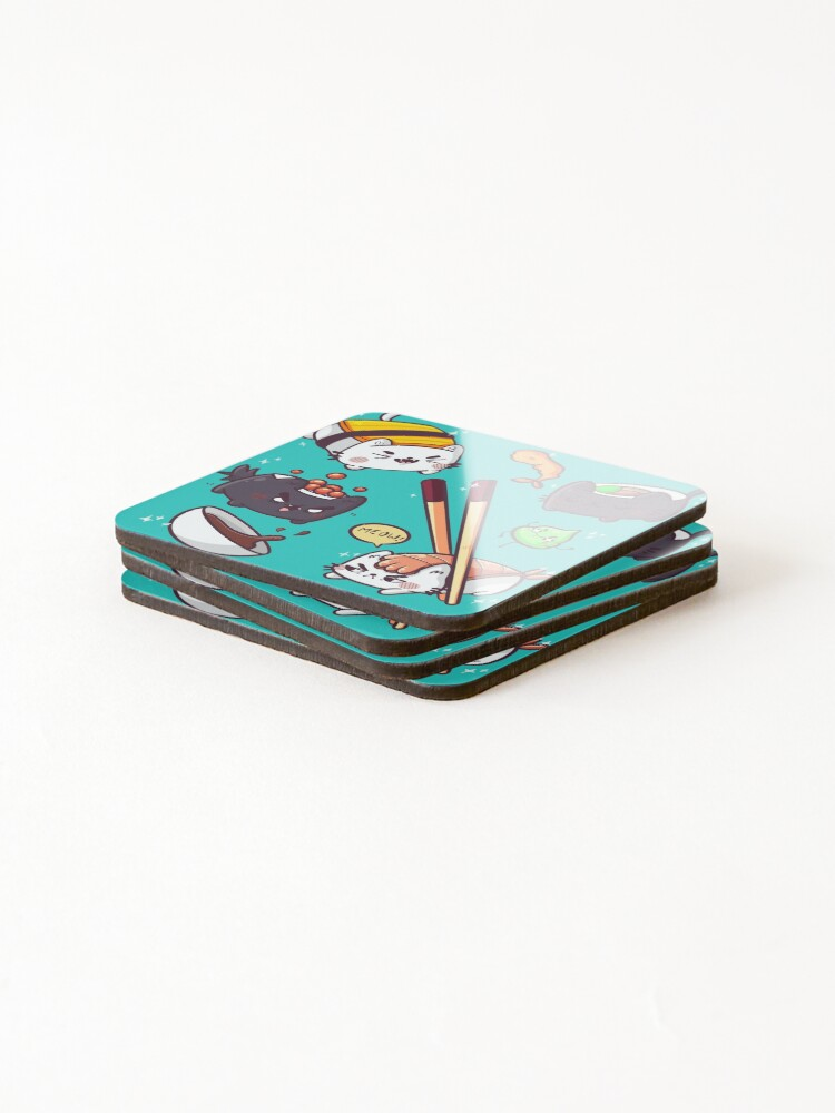 Alternate view of Sushi cats Coasters (Set of 4)